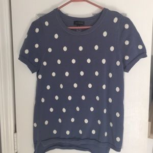 The limited short sleeve polka dot sweater