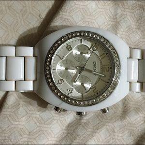 White DKNY watch
