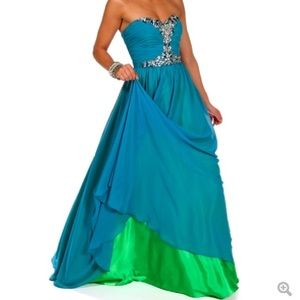 Sherri Hill Dresses & Skirts - 💕SALE💕 Blue Prom Dress