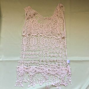 It's Our Time Tops - NWOT Lacey tank