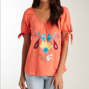 Vava by Joy Han Tops - VAVA Coral Arm Tie Top