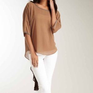 Vava by Joy Han Tops - VAVA Sheer Tail Top