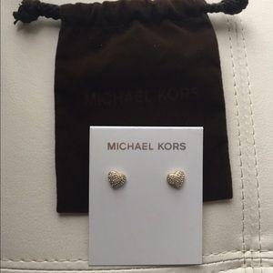 New Michael Kors Pavé Stud Earrings