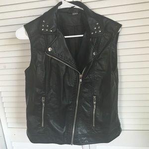 H&m studded faux leather vest