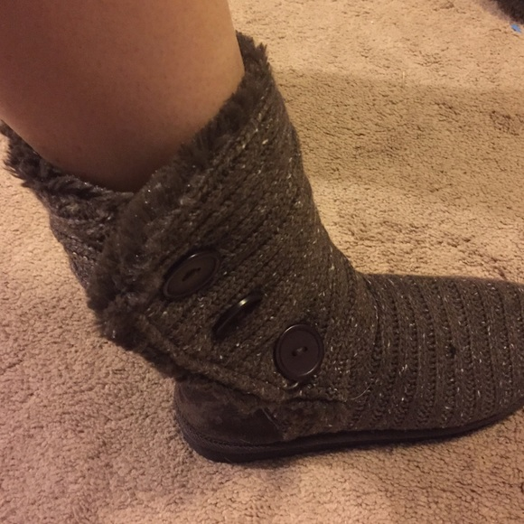 56% off Muk Luks Shoes - Muk Luks brown sweater boots from ...