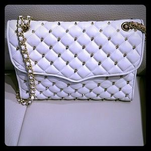 NWOT Rebecca Minkoff quilted affair studded bag