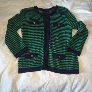 Sweaters - Green and navy classy cardigan