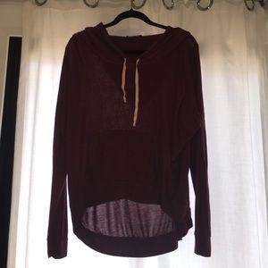 Maroon hoodie | Brandy Melville