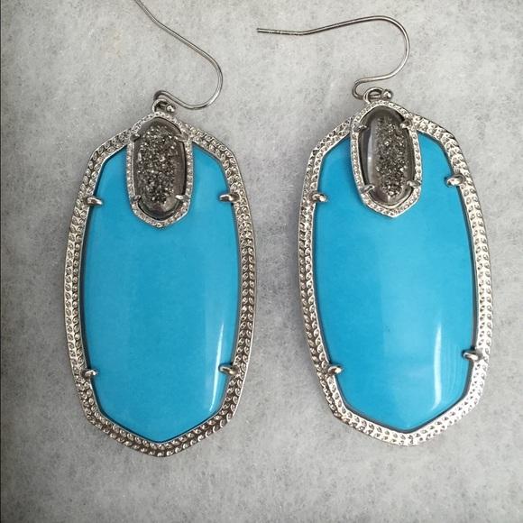 Kendra Scott Jewelry | New Turquoise Darcy Earrings | Poshmark