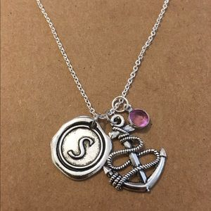 Jewelry - Anchor personalized charm necklace