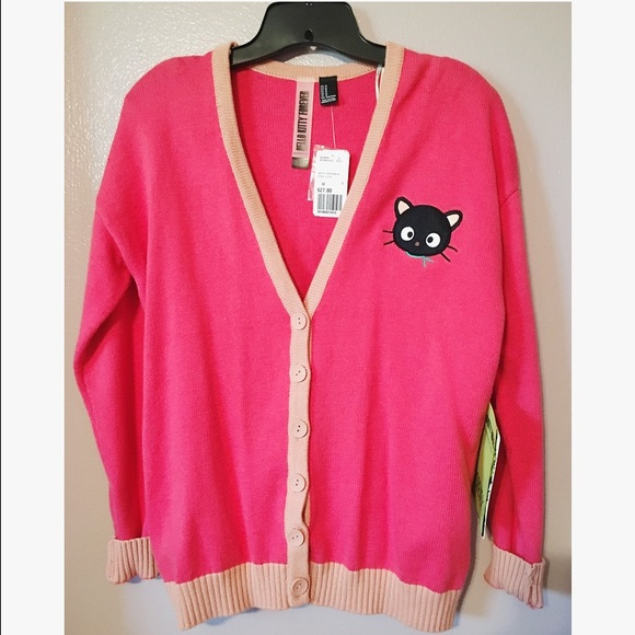 7085362e4 Forever 21 Sweaters | Nwt X Hello Kitty Chococat Cardigan | Poshmark