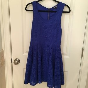 Express blue lace skater dress Make Offers!!!