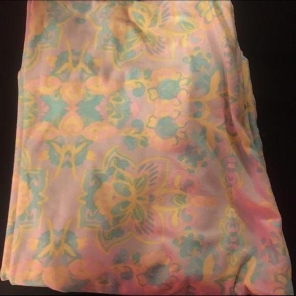 9a92f82e34d054 LuLaRoe Pants | Pastel Floral Os Legging | Poshmark