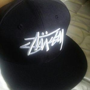 STUSSY Logo Black Snapback