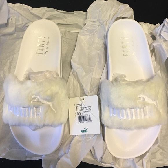 wholesale dealer 8ca16 7a2ef Puma Fenty Rihanna White Slides size 5.5 with tags NWT