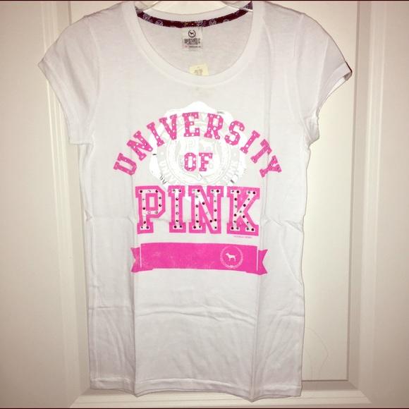 83c70c9bc1f99 New VS University of pink logo tee NWT