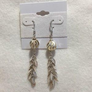 Bit of Heaven Jewelry - Sterling Silver Leaf Chain Tassel Earrings