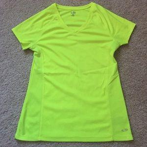 Champion Tops - Neon Yellow Champion Workout Shirt