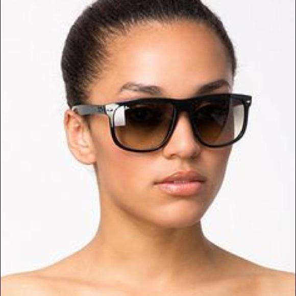 ray ban flat top boyfriend sunglasses  ray ban unisex boyfriend flat top frame sunglasses