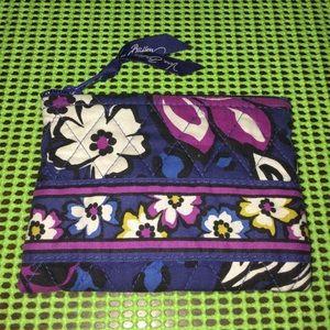 Vera Bradley African violet coin purse
