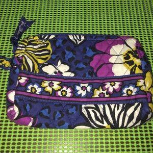Vera Bradley African violet cosmetic bag