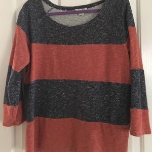 Sweaters - Red and blue stripped sweater