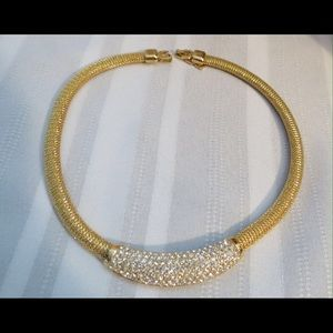Christian Dior Jewelry - Exquisite Christian Dior Crystal Gold Necklace