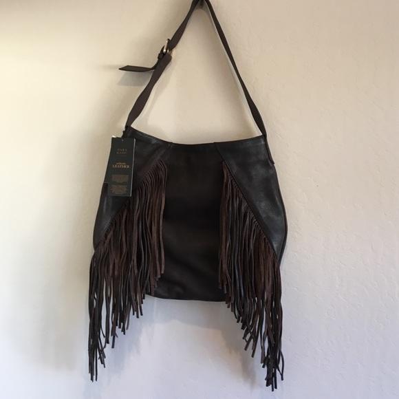 7212a21aeea Zara Bags | Sale Authentic Leather Fringe Bag | Poshmark