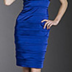 0f472cf7ede3 Calvin Klein Dresses - Calvin Klein V neck banded satin royal blue dress