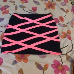 Neon Pink rave skirt