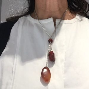 Bliss Jewelry - Sterling Silver and Tumbled Tiger's Eye Necklace!