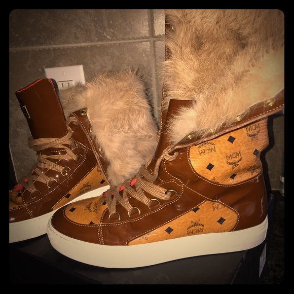 MCM Shoes | Womens Mcm Fur High Tops
