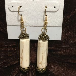 Bit of Heaven Jewelry - WHITE MAGNESITE EARRINGS