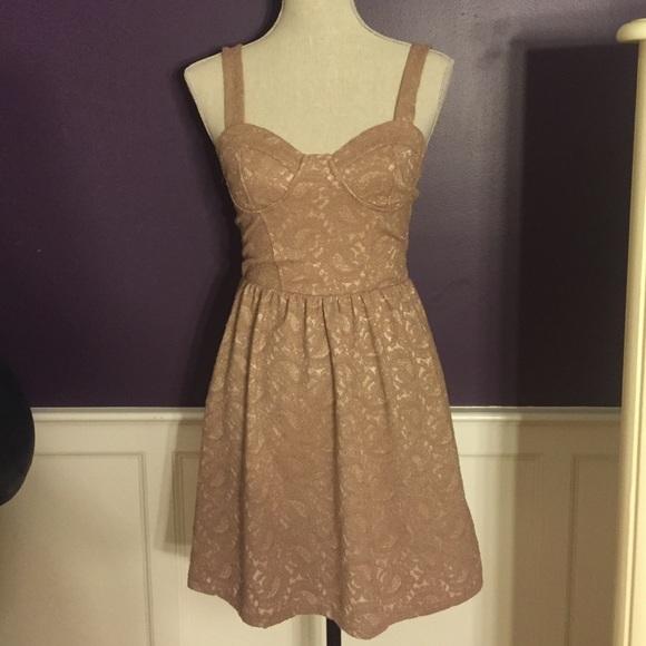 Topshop Dresses Nude Lace Corset Bustier Dress Poshmark