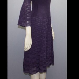 M by Missoni Dresses & Skirts - M by MISSONI plum dress sz small