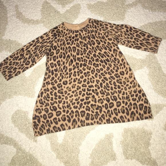 Gap Other - ✨NWOT✨ Baby Gap leopard sweater dress a960c0f245d2