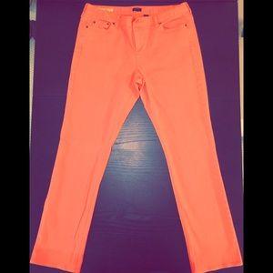 Women's J Crew Coral Matchstick denim jeans