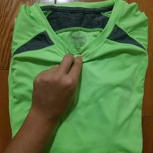 Neon Green Spalding Speed-Dri Top