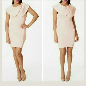 ina Dresses & Skirts - Pink Scuba fold over dress. Size small and medium