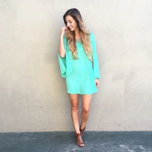 | new | split sleeve dress