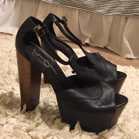 e32cbe67571 Jessica Simpson Shoes - Jessica Simpson black Dany platform sandal size 9