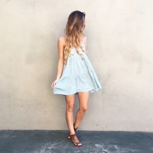 | new | mint floral tank dress