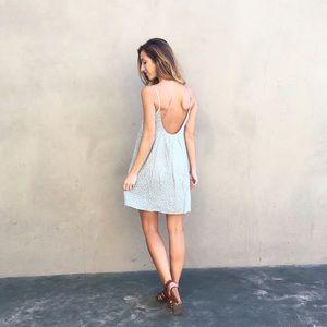 Dresses & Skirts - mint floral tank dress
