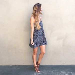 | new | navy floral tank dress