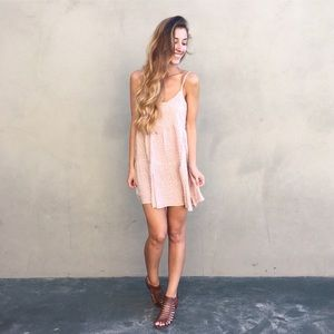 | new | dusty pink floral tank dress