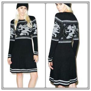 576b784d55f Sourpuss Dresses - ✨Sourpuss Krampus Fair Isle Sweater Dress✨