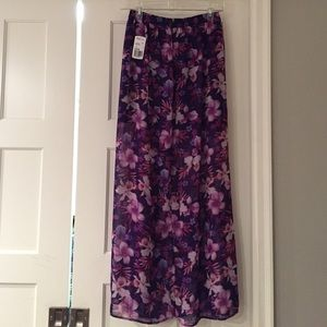 Sheer Purple Maxi Skirt