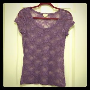 Zenana Outfitters Tops - Lacy Top