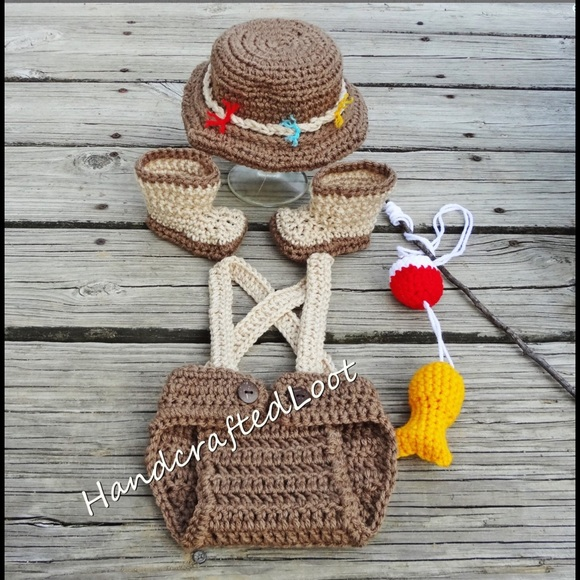 27 off handmade other baby fishing fisherman photo prop for Baby fishing outfit