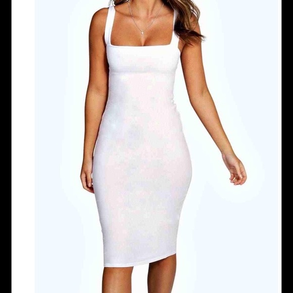 Boohoo Dresses - 🐼 All White All Day Dress 🐼